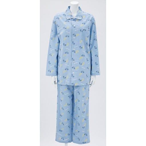 【SALE】 【レディース】 ネル起毛あったかシャツパジャマ(男女兼用・ペア)