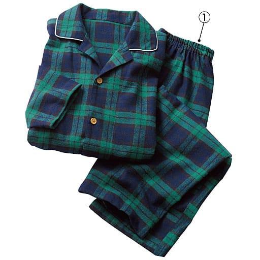 【SALE】 【レディース】 柔らか起毛あったかシャツパジャマ(男女兼用・ペア綿100%)の通販
