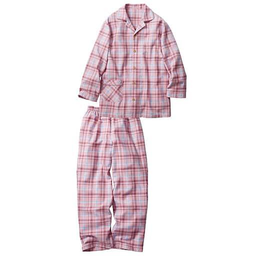 【レディース】 柔らか起毛あったかシャツパジャマ(男女兼用・ペア綿100%)