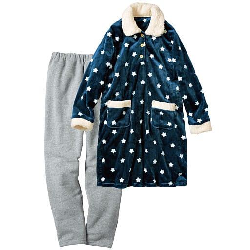 【SALE】 【レディース】 柄が可愛いあったかロングチュニック丈パジャマ(ふわもこ®プレミアム)