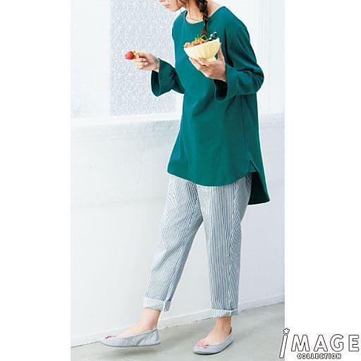 【レディース】 フレア袖のチュニック丈パジャマの通販