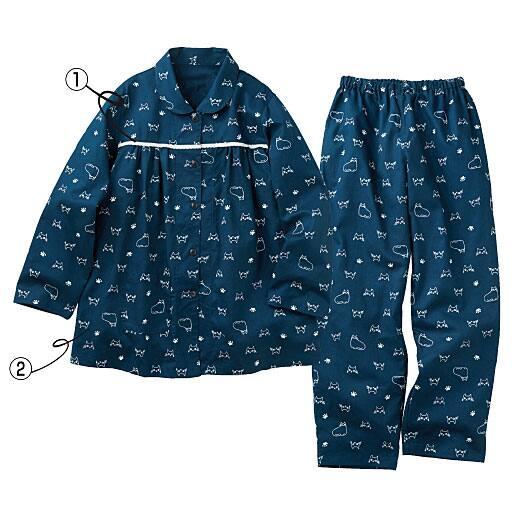 【レディース】 胸元レース付きパジャマ(綿100%) – セシール