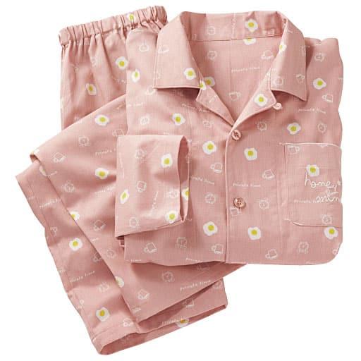 【レディース】 シャツパジャマ(綿100%・男女兼用)の通販