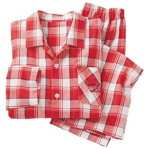 【レディース】 シャツパジャマ(綿100%・男女兼用)