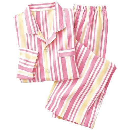 30%OFF【レディース】 シャツパジャマ(男女兼用・綿100%)