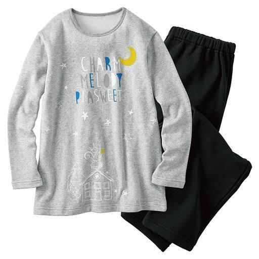 【レディース】 あったか起毛のプリントTタイプパジャマ