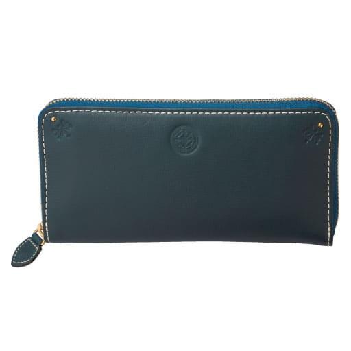 【レディース大きいサイズ】 ラウンド型長財布(本革・大容量)