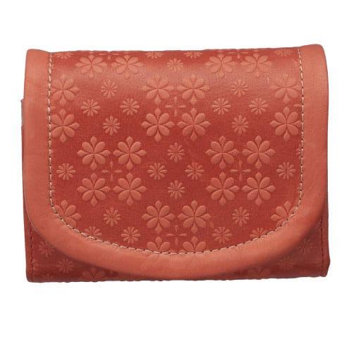 【レディース大きいサイズ】 二つ折り財布(本革)