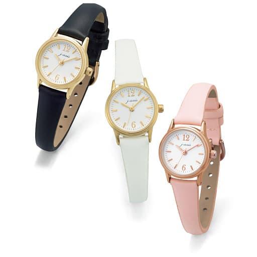 【SALE】 【レディース】 本革ベルトのシンプル時計