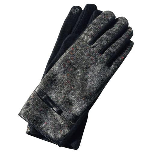 【SALE】 おしゃれツイード手袋(スマホ対応) – セシール