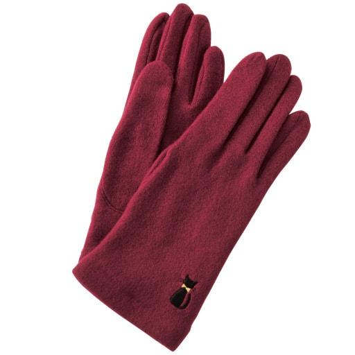 ねこ刺繍手袋(手洗いOK) – セシール