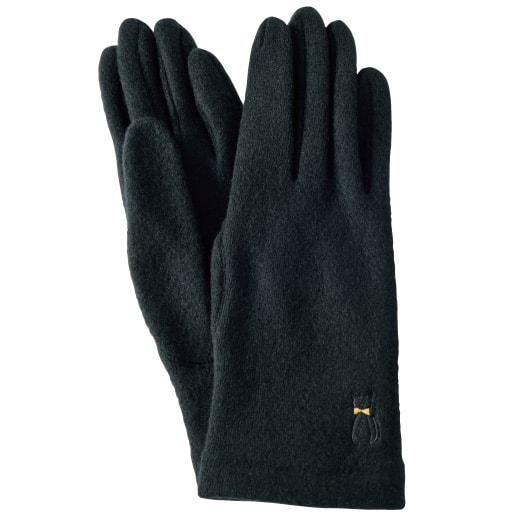 ねこ刺繍手袋(手洗いOK)