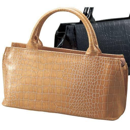 30%OFFクロコ型押しハンドバッグ(フォーマル・卒業式・入学式) - セシール