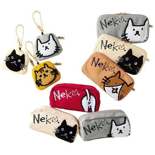 【ティーンズ】 サガラ刺繍のネコ雑貨