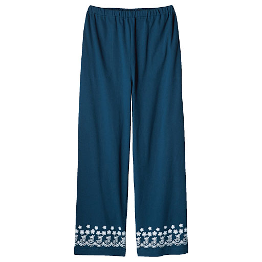 【SALE】 【レディース】 パジャマにもルームウェアにも便利なゆったりパンツ(綿混・吸汗・速乾・ストレートタイプ)の通販