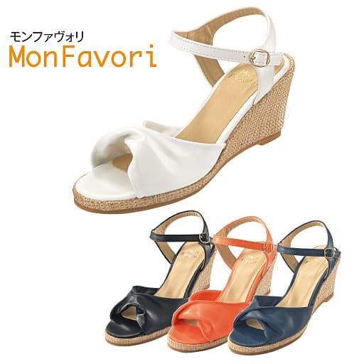 ふんわりウェッジサンダル(MonFavori)