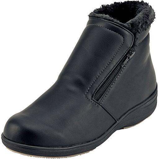 ゆったり幅ショートブーツ(パンジー)(日本製・抗菌防臭・軽量・防水) – セシール