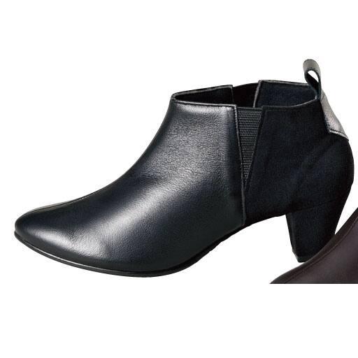 【SALE】 異素材使いショートブーツ(日本製・本革) – セシール