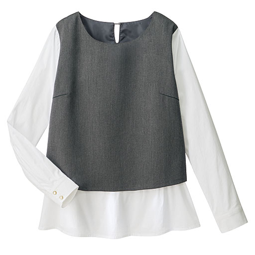 【SALE】 【レディース】 レイヤード風切り替えシャツの通販