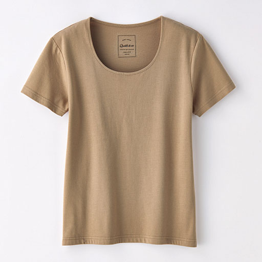 【レディース】 コットンモダールWフロントTシャツの通販
