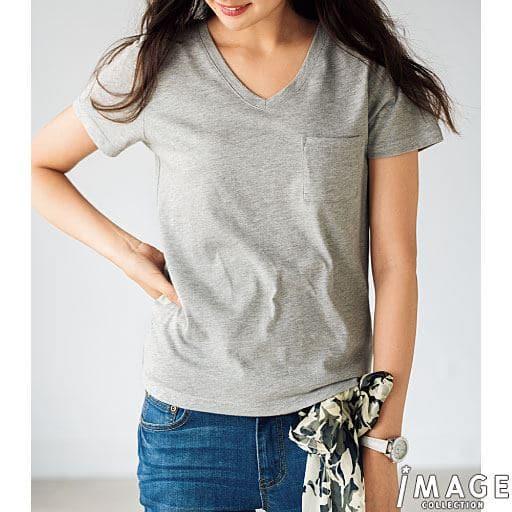 【レディース】 コットンモダールポケットTシャツの通販