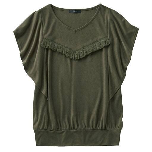 【SALE】 【レディース】 フリンジ付きチュニックTシャツの通販