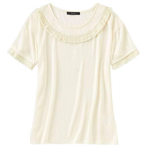 【SALE】 【レディース】 フリンジ使いTシャツの通販