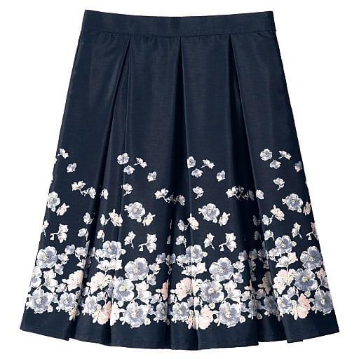 【レディース】 フラワープリントスカート