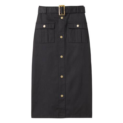 【レディース】 ベルト付きカーゴタイトスカート