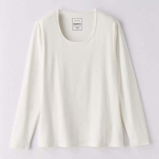 【レディース】 コットンモダールWフロント長袖Tシャツの通販