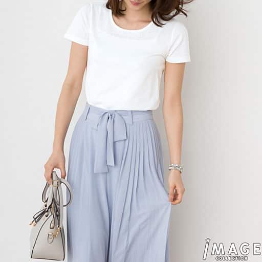 【SALE】 【レディース】 ラインストーン使いTシャツの通販