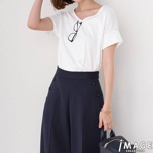 【SALE】 【レディース】 グラス刺しゅうTシャツの通販