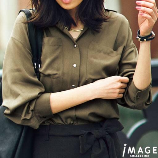 【SALE】 【レディース】 ポケット付きビッグシャツの通販