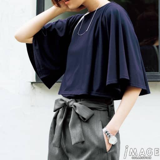 【SALE】 【レディース】 ケープ風カットソー – セシール