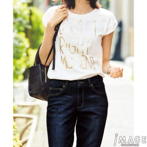 【SALE】 【レディース】 箔プリントTシャツの通販