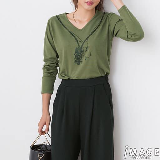 【SALE】 【レディース】 プリント長袖Tシャツの通販