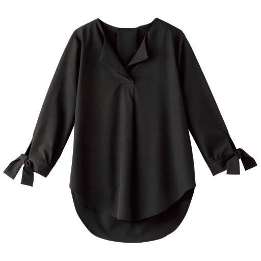 【SALE】 【レディース】 袖リボンウイングカラーシャツの通販