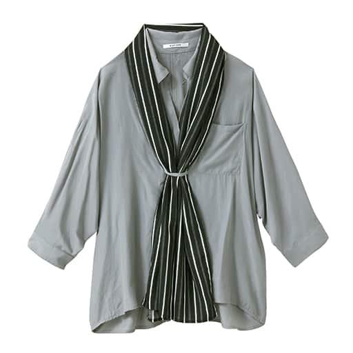 【SALE】 【レディース】 ストール付きスキッパーシャツの通販