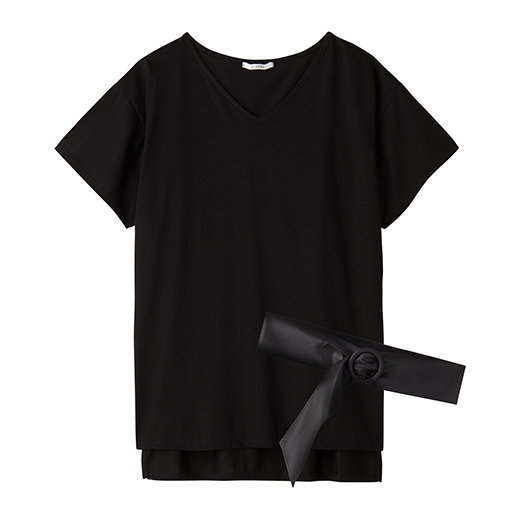 【SALE】 【レディース】 ベルト付きVネックTシャツ – セシール