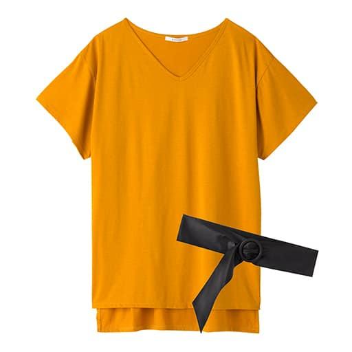 【SALE】 【レディース】 ベルト付きVネックTシャツの通販