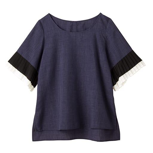 【SALE】 【レディース】 配色袖プリーツブラウスの通販