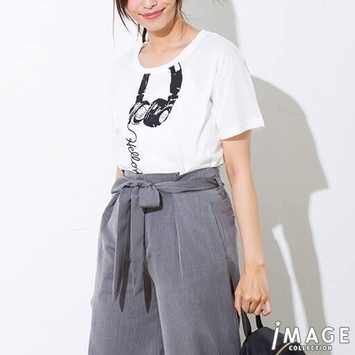 【レディース】 ハローキティ ヘッドホンゆるTシャツの通販