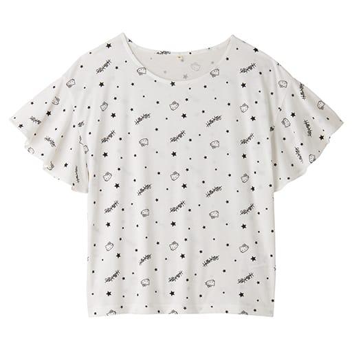 【レディース】 ハローキティ 星柄フレア袖Tシャツの通販