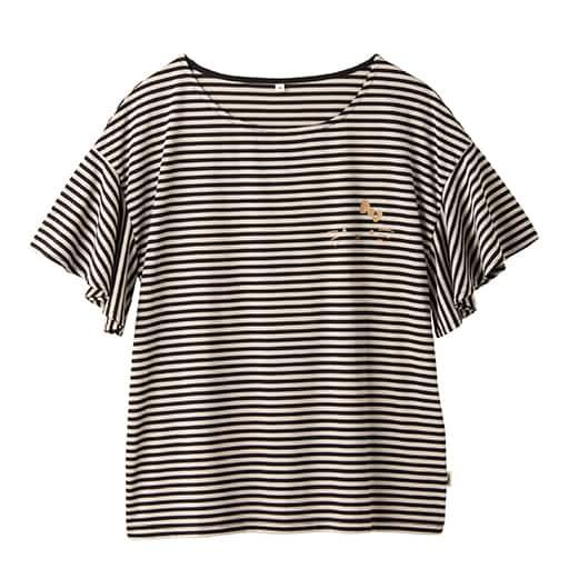【SALE】 【レディース】 ハローキティ ボーダーフレア袖Tシャツ – セシール
