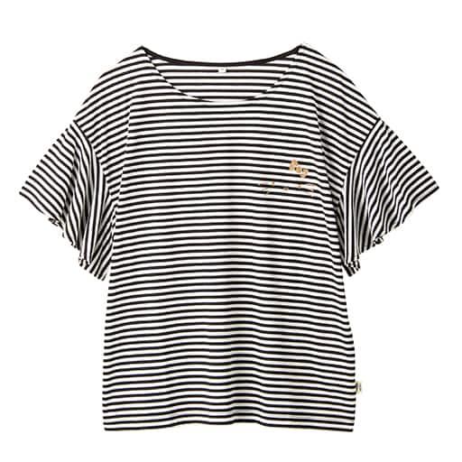 【SALE】 【レディース】 ハローキティ ボーダーフレア袖Tシャツ