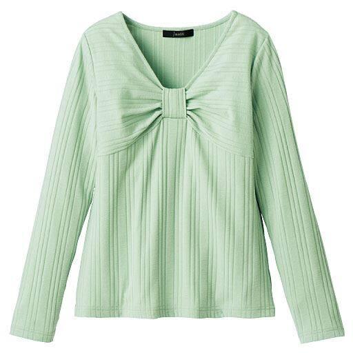 【レディース】 リボンフロントTシャツの通販