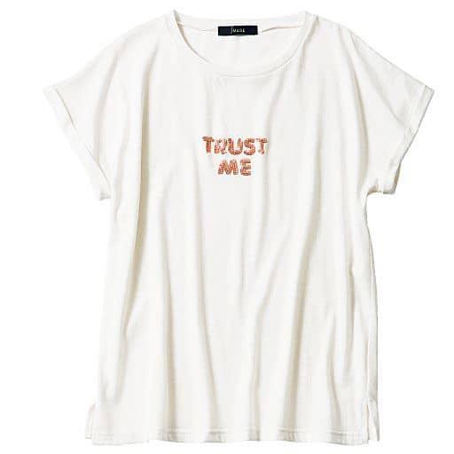 【レディース】 スパンコール刺しゅうTシャツの通販