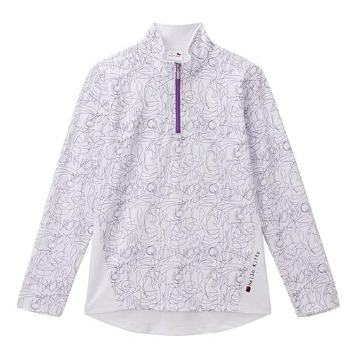 【レディース】 ハローキティ ハーフZIPロングTシャツの通販