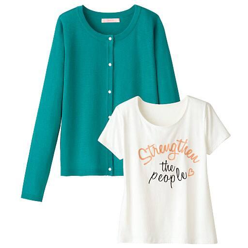 【SALE】 【レディース】 カーディガン&刺しゅう使いTシャツの通販