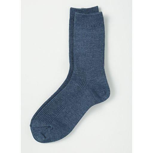 【レディース】 ファミリーソックス・3足組(家族ではける定番靴下 21cm-27cm)(クルー丈)